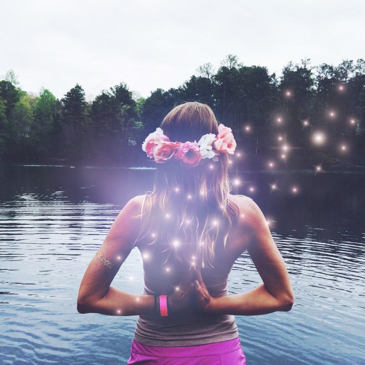Violet Aura Photo Effect