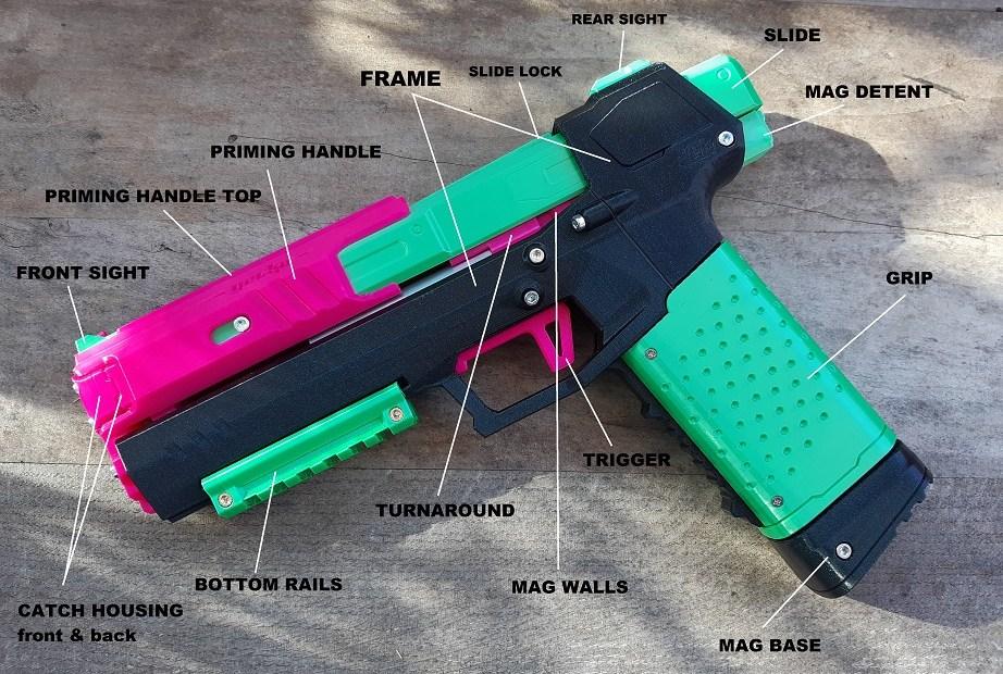 Gecko Blaster Parts detailed