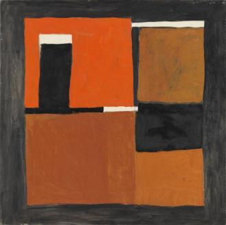 Orange, Black and White Composition, 1953, by William Scott