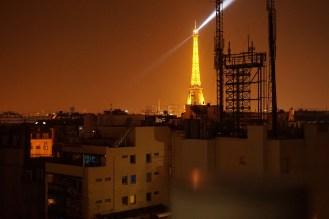 orange lights of 1am Paris