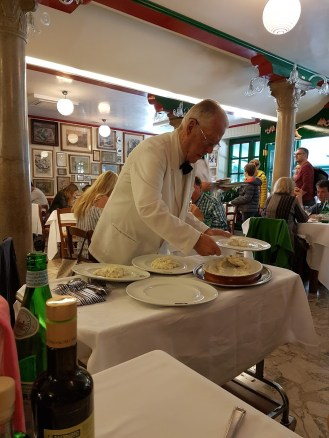 traditional service at Da Romano Burano