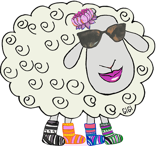 Fifi the Sheep at Rainbow Road Trading on Salt Spring Island
