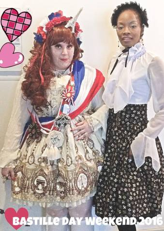 Our lady V. Sama and Lady C. dressed to the 9s for Bastille Day in French themed coordinates.