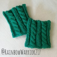 Twisted/Cable Boot Cuffs | Knit Pattern
