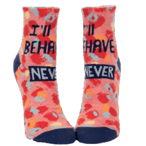 ILL-BEHAVE-NEVER-WOMENS-ANKLE-SOCKS-SW643-2