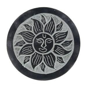 SOAPSTONE-SUN-INCENSE-BURNER