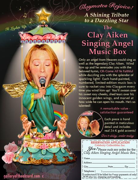 Clay Aiken singing angel music box