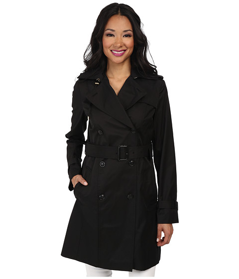 Double Breasted Hooded Trench Coat by Cole Haan