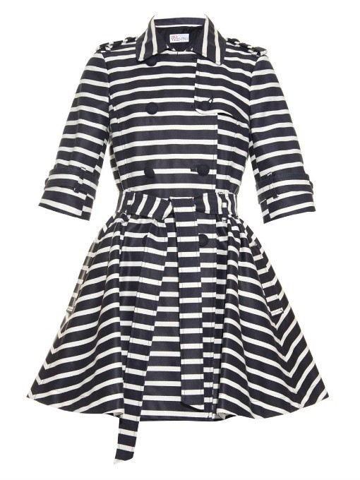 REDValentino Striped trench coat