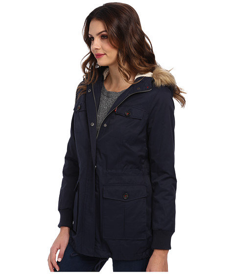 Cotton Nylon Four-Pocket Women Parka