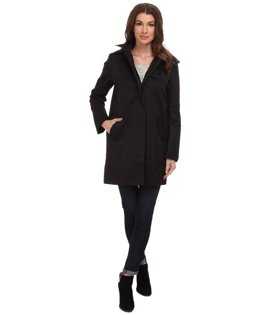 Cole Haan Single Breasted Womens Long Raincoat