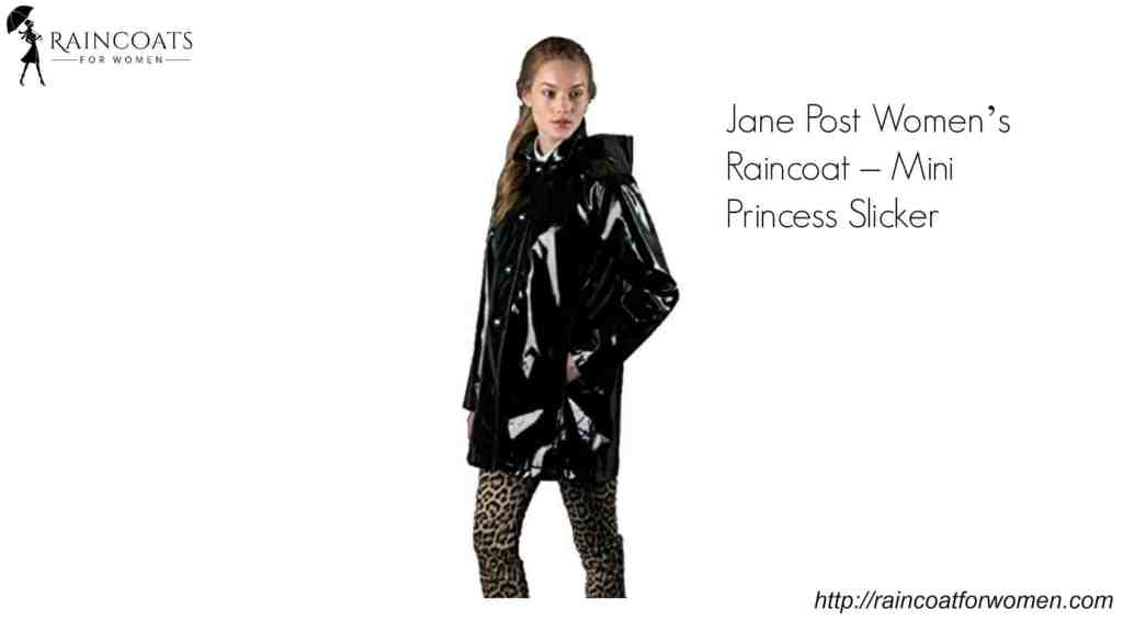 Jane Post Women's Raincoat – Mini Princess Slicker