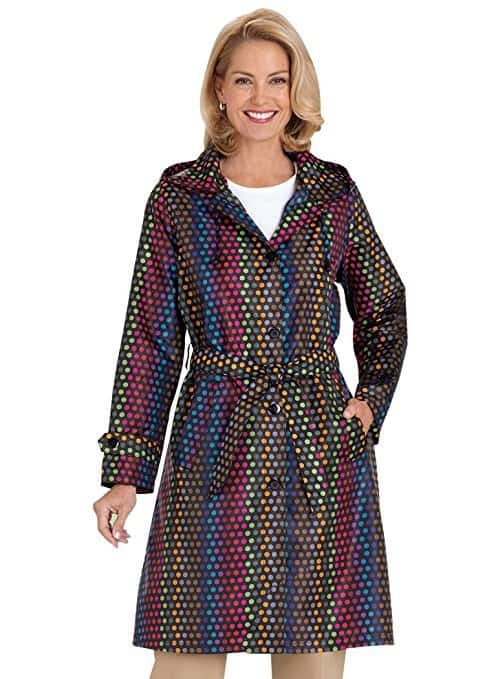 packable womens raincoat dot multi ameri mark