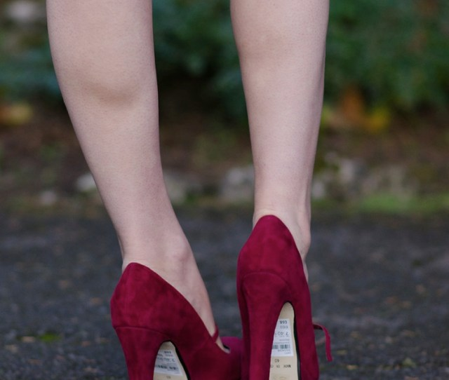 Red Sexy High Heels Shoes Bare Naked Legs