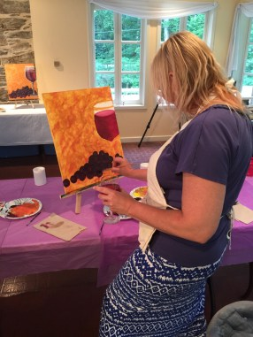 Artist Chelly creating a master piece!