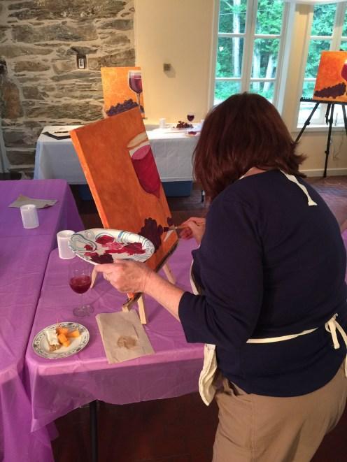 Artist Denise making those grapes pop!
