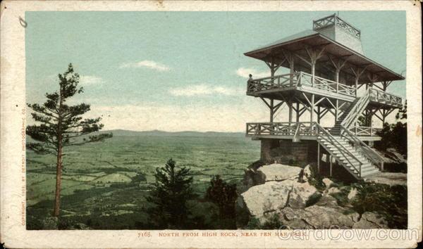 North from High Rock Near Pen Mar Park Highfield-Cascade, MD