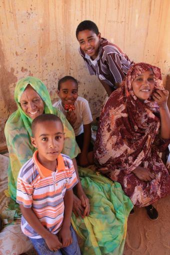 A family in Wadi Halfa