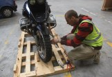 Preparing my motorbike for shipping