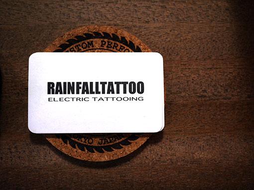 タトゥースタジオのショップカード