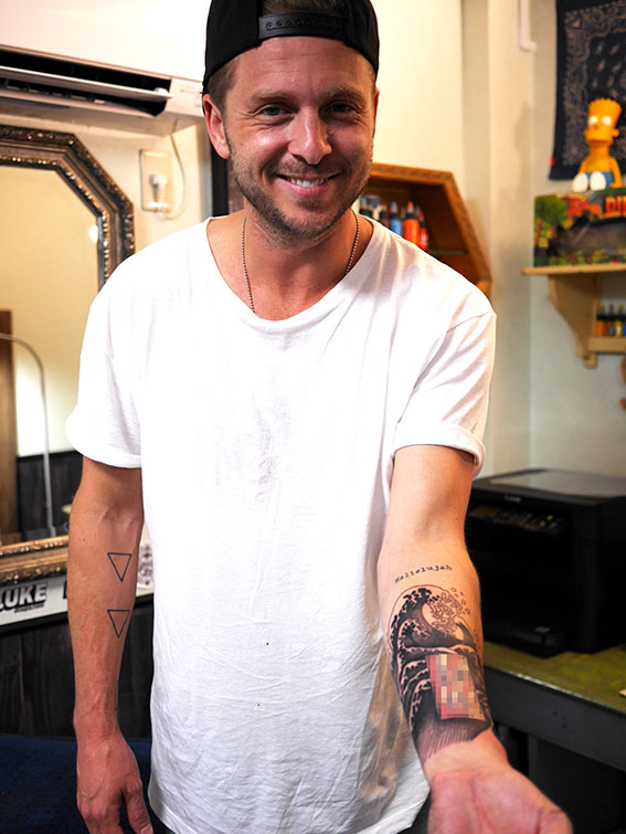 ONEREPUBLIC Ryantedder tattoo japan