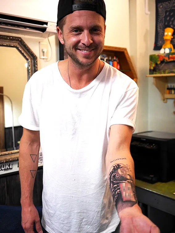 ONEREPUBLIC Ryantedder tattoo japan