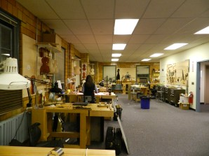 Violin-making bench room