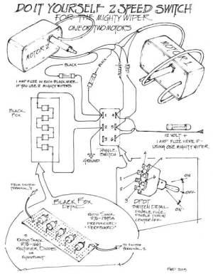 The Mighty Wiper  Wiring Diagram  RainGear Wiper Systems