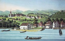 Thalwil, ZH -- etching by Heinrich Brupbacher (1758-1835)