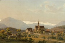 Kloster Kappel -- painting by Jakob Suter ca 1820