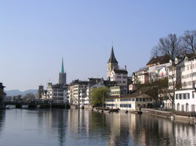 The Limmat in Zürich -- photo by David Waldner