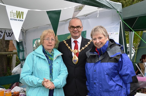 Rainhill WI President & Vice President with the present Mayor of St Helens