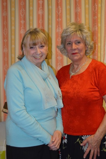 Jean Finney with Vice-President of Rainhill WI, Ruth Grimley