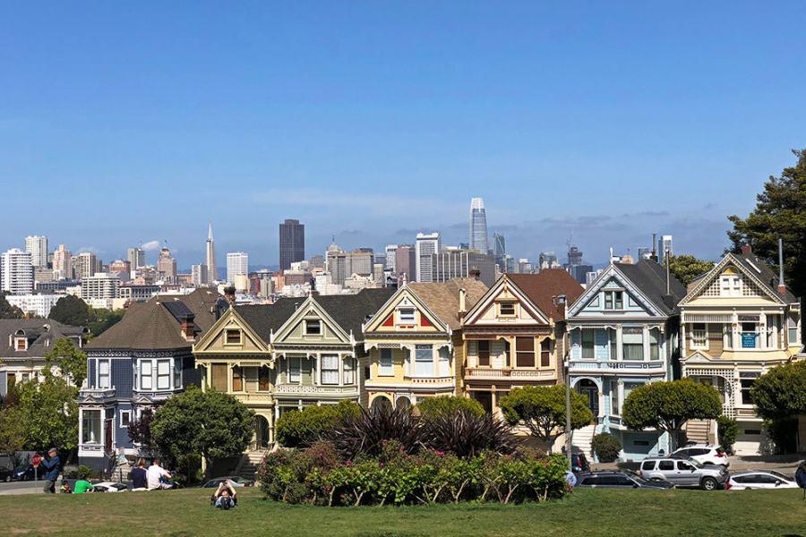 舊金山 | 彩繪女士 Painted Ladies 六姐妹明信片屋,霧城最優雅風景線