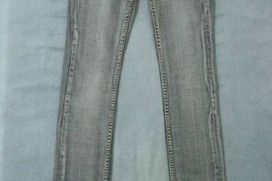 IBS    灰白刷色牛仔褲  22-303-80