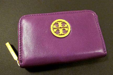Tory Burch Classic Leather Zip Coin Case / mini Wallet 經典款拉鍊零錢包