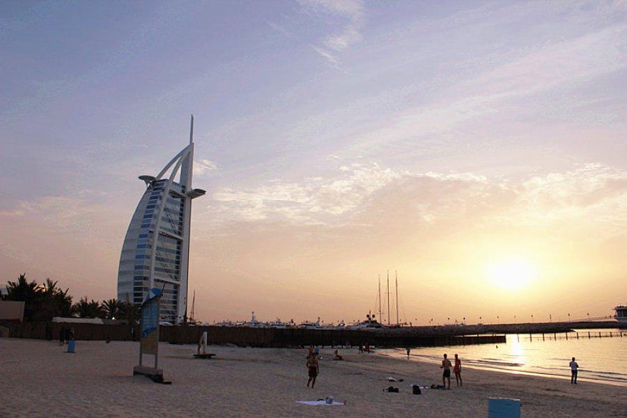 杜拜海灘 Dubai Jumeirah Beach – 七星級帆船飯店 Burj Al Arab 免費觀賞點