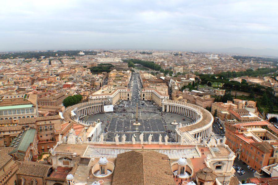 [梵蒂岡] Vaticano 聖城之旅(下) | 聖彼得大教堂 Basilica di San Pietro in Vaticano 廣場、震撼攻頂