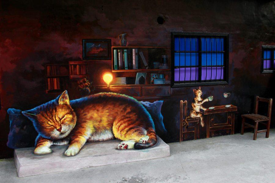 [雲林] 虎尾 頂溪彩繪貓村 – 《屋頂上的貓》那些小咪在這裡生活的故事<3