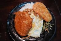 馬路益燒肉飯,超人氣古早飯便當,併雙主食才過癮~花枝排也不錯!