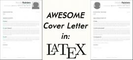 An awesome cover letter template with LaTeX