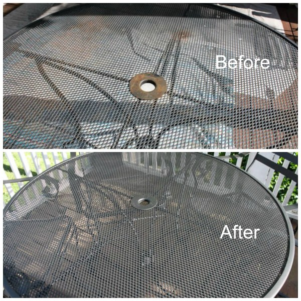 12 Outdoor Furniture Makeovers   Easier Than You Think  Outdoor Metal Table Makeover