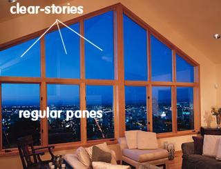 Second example of clear-story panes