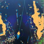 Radar image from bridge