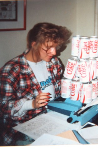 Here is the only photo I have of me studying through all my school days.  But, hey, there is my trusty typwriter