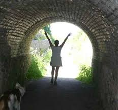 How I felt coming out of the tunnel!!  FREE!!  SAFE!! LIGHT!!