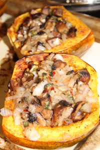 Acorn Squash with Portobello Mushrooms