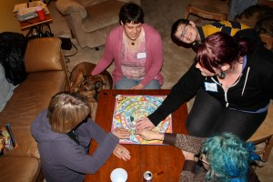 An arial view of the Psychic Circle game. And again, my 11 year old photo bombing us.