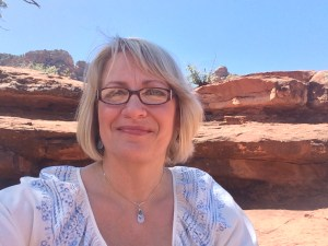 Selfie on the red rocks of Sedona, AZ