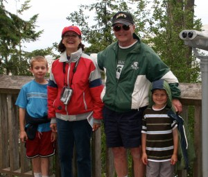 Papa Joe, Nana and my boys, Robby and Sawyer at the Dungeness Spit in Sequim, WA a few years ago.